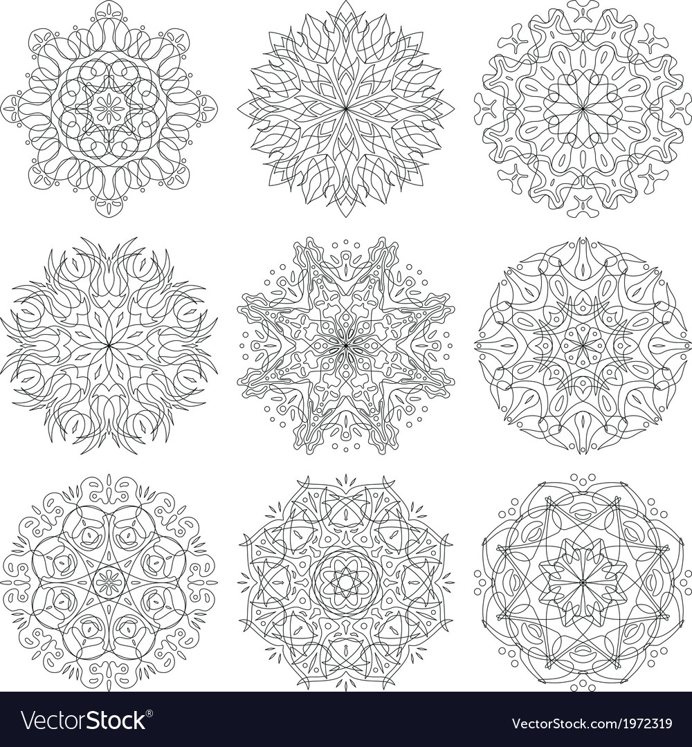 Abstract pattern set vector | Price: 1 Credit (USD $1)