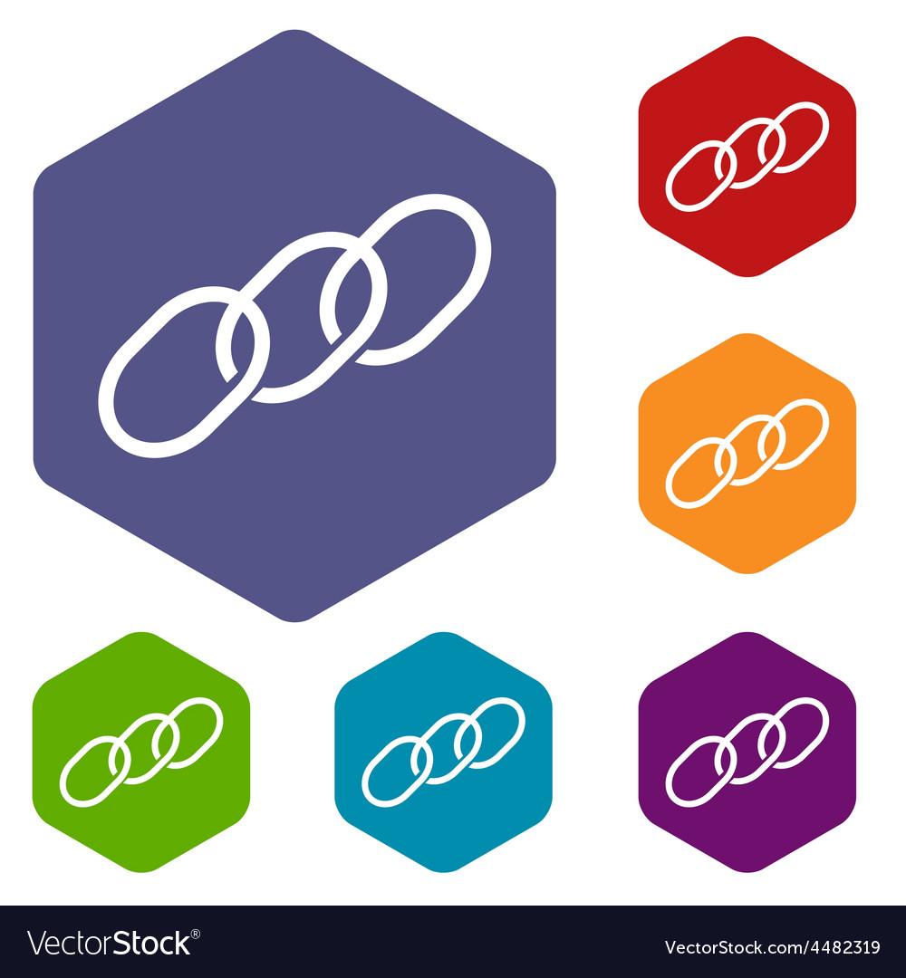 Chain rhombus icons vector | Price: 1 Credit (USD $1)