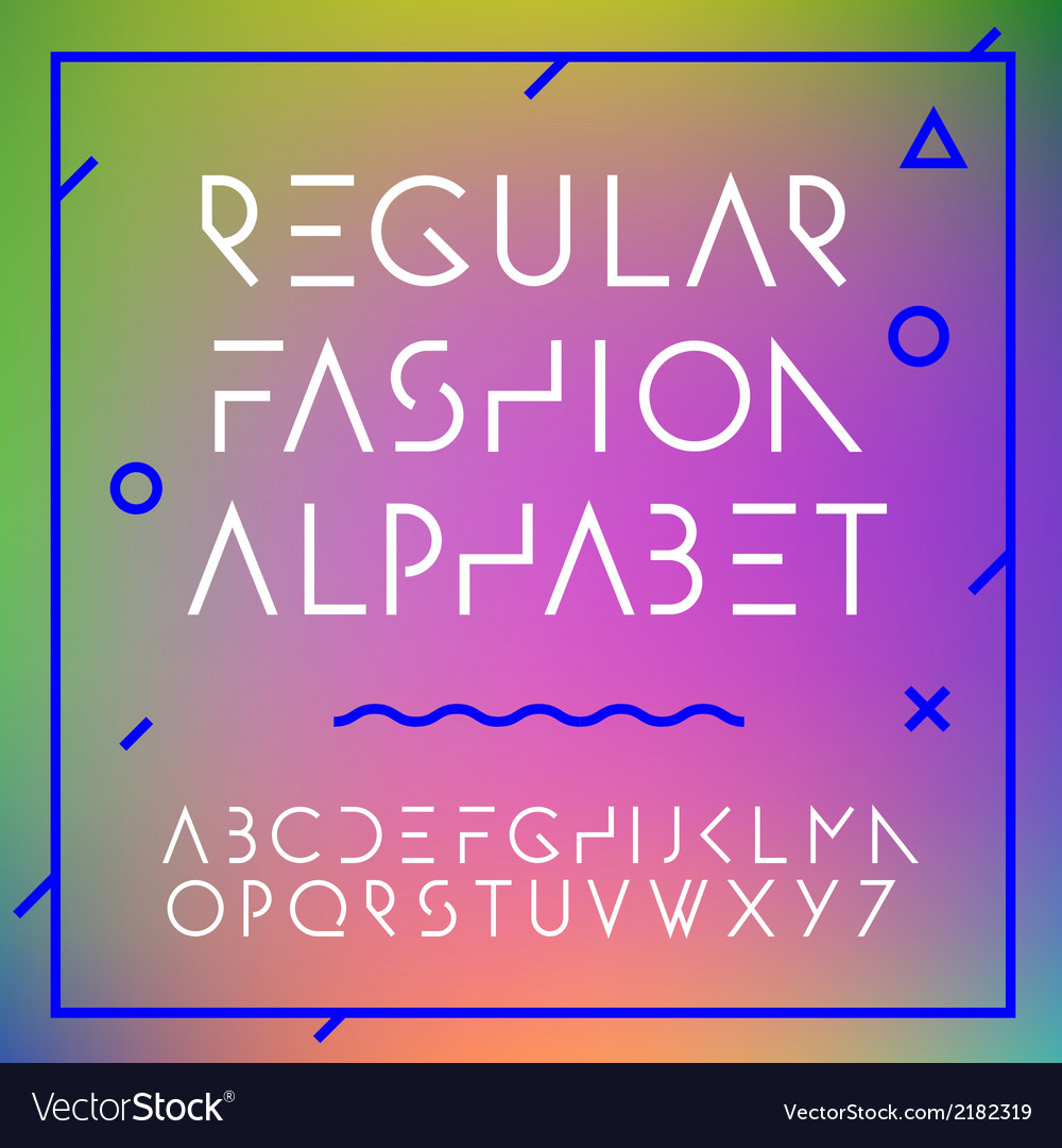 Fashion alphabet letters collection vector | Price: 1 Credit (USD $1)