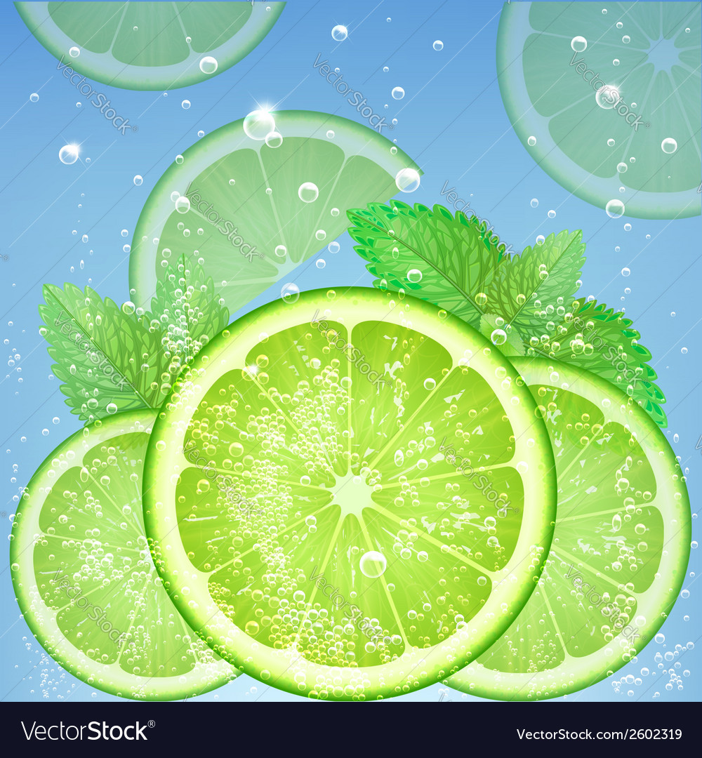 Fresh lime vector | Price: 1 Credit (USD $1)