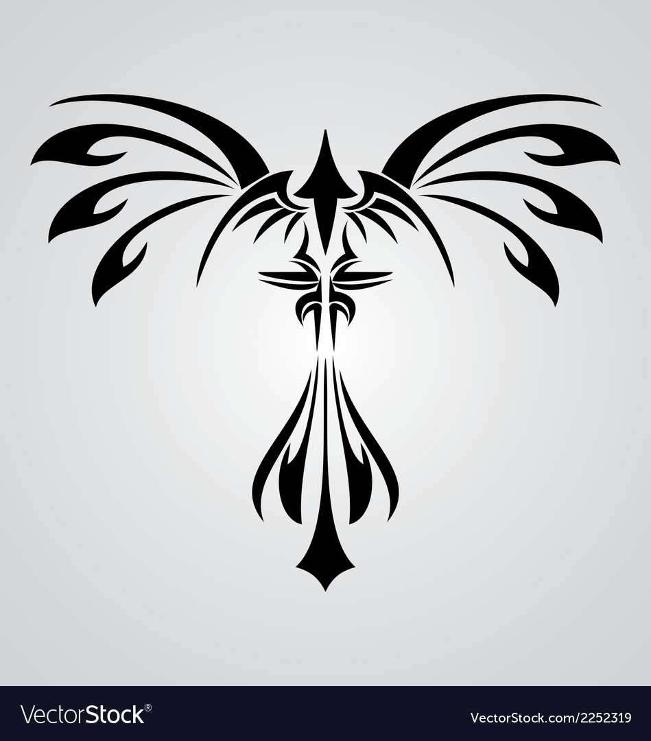 Phoenix bird tribal vector | Price: 1 Credit (USD $1)