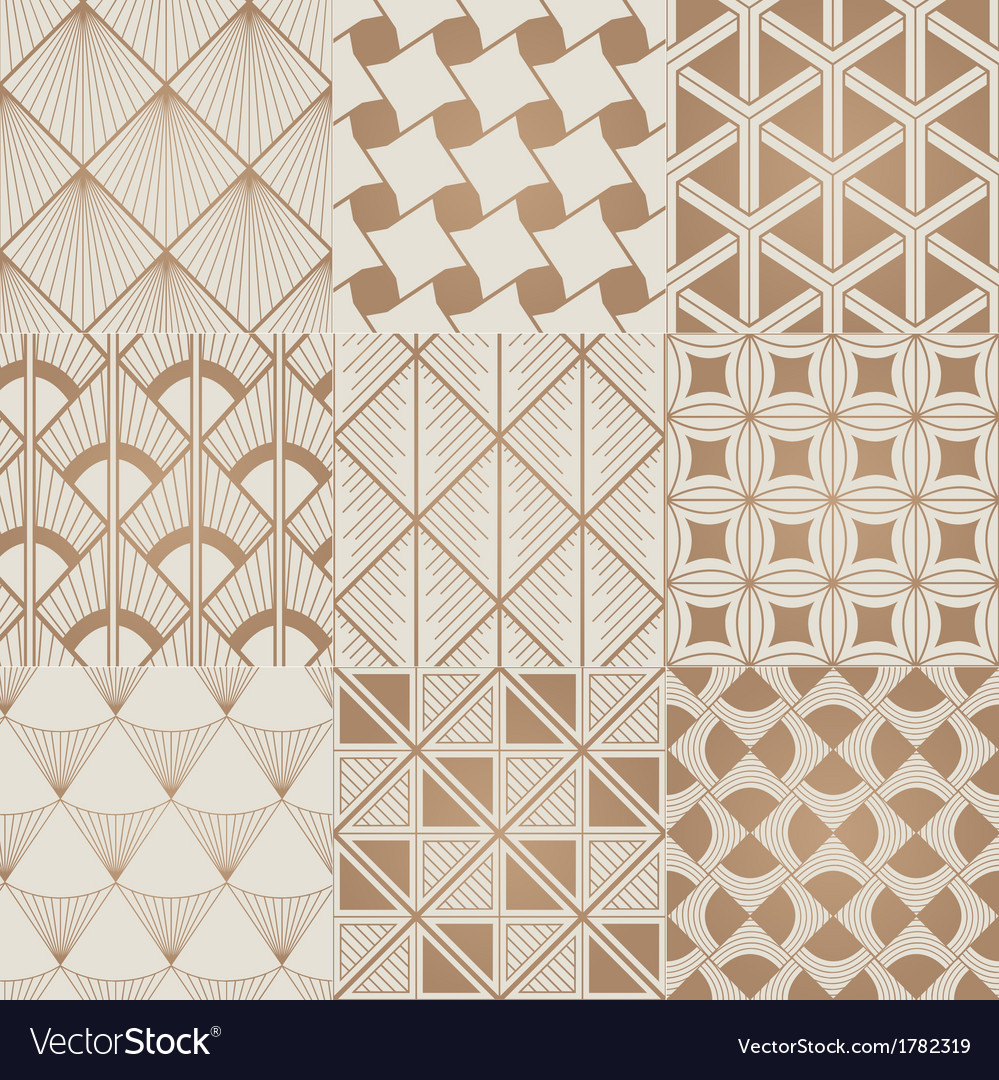 Seamless geometric gold pattern vector | Price: 1 Credit (USD $1)