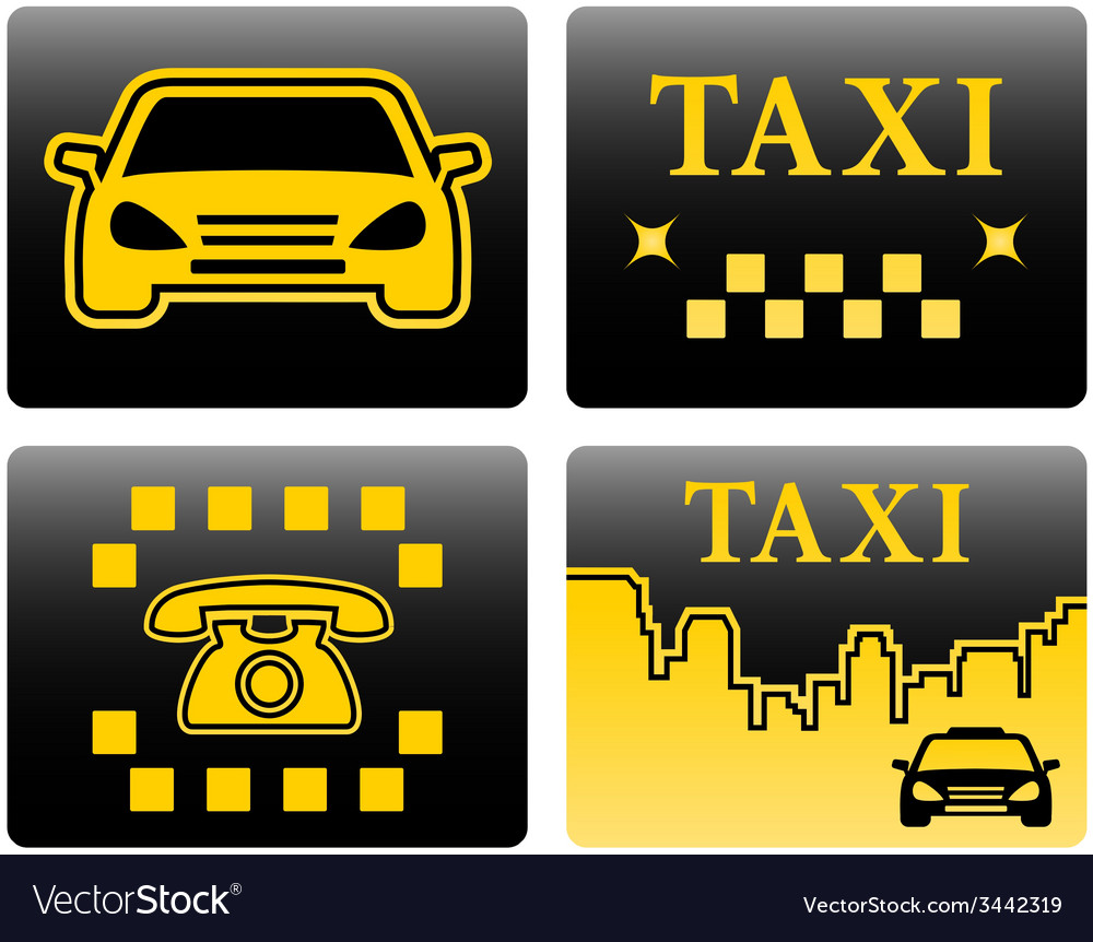 Set icons for taxi vector | Price: 1 Credit (USD $1)