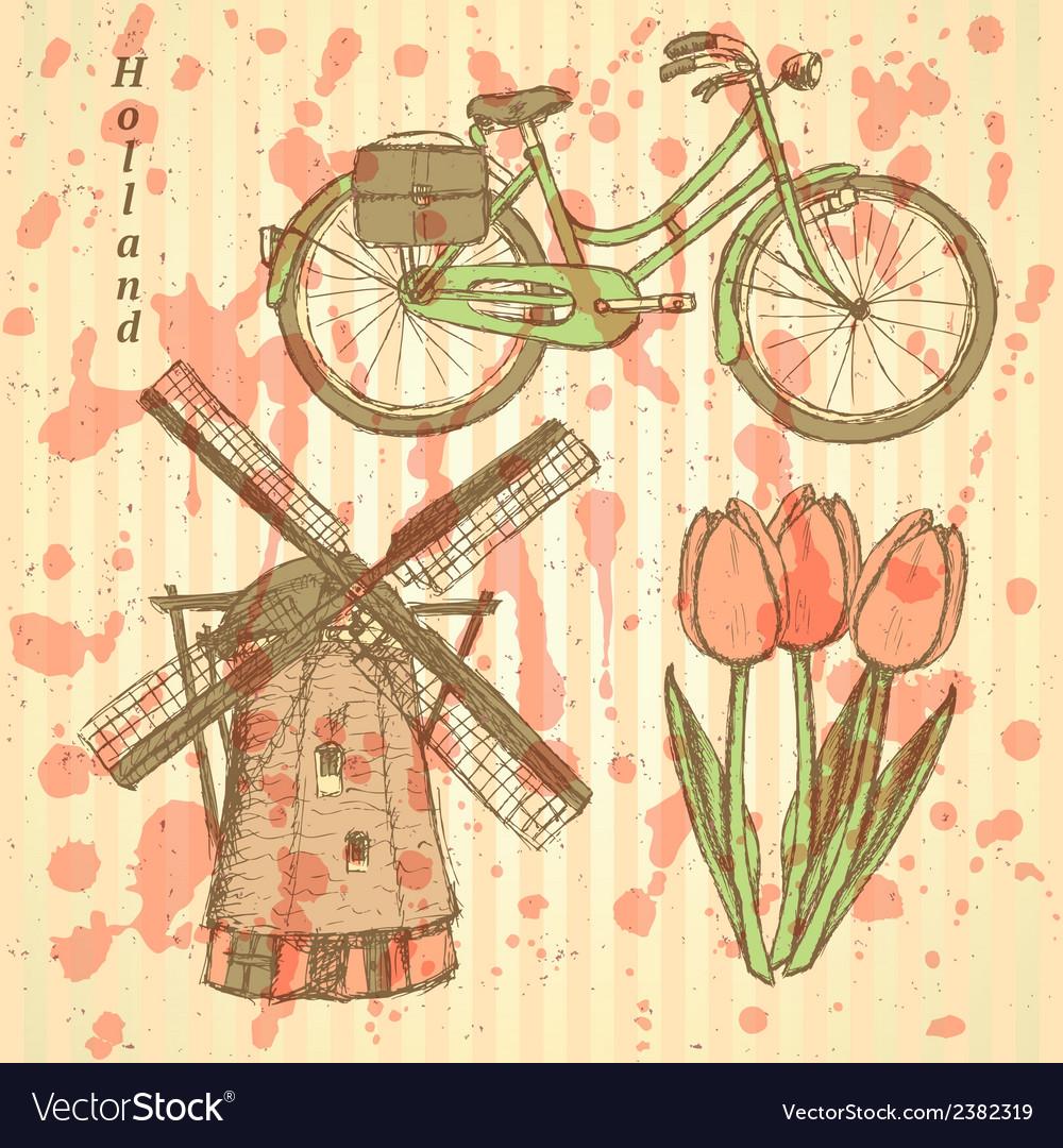 Tulip windmill vector | Price: 1 Credit (USD $1)