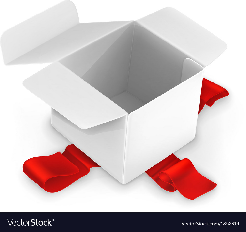 White cardboard box vector | Price: 1 Credit (USD $1)