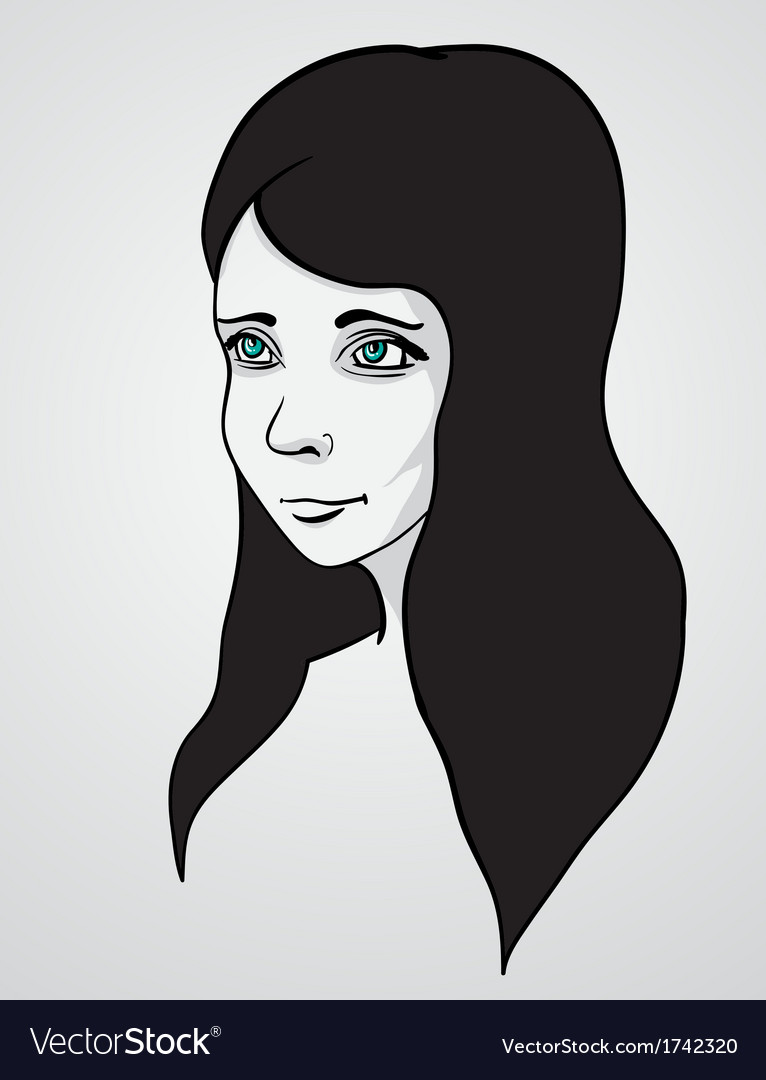 Beautiful woman portrair vector | Price: 1 Credit (USD $1)