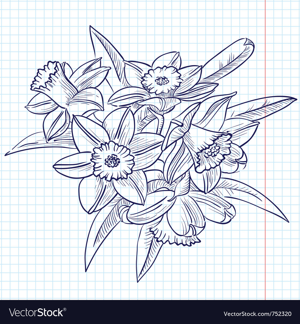 Bouquet of doodle vector | Price: 1 Credit (USD $1)