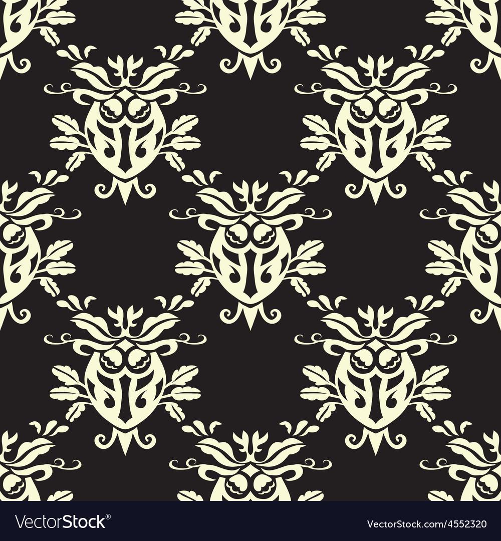 Damask seamless silk vector   Price: 1 Credit (USD $1)
