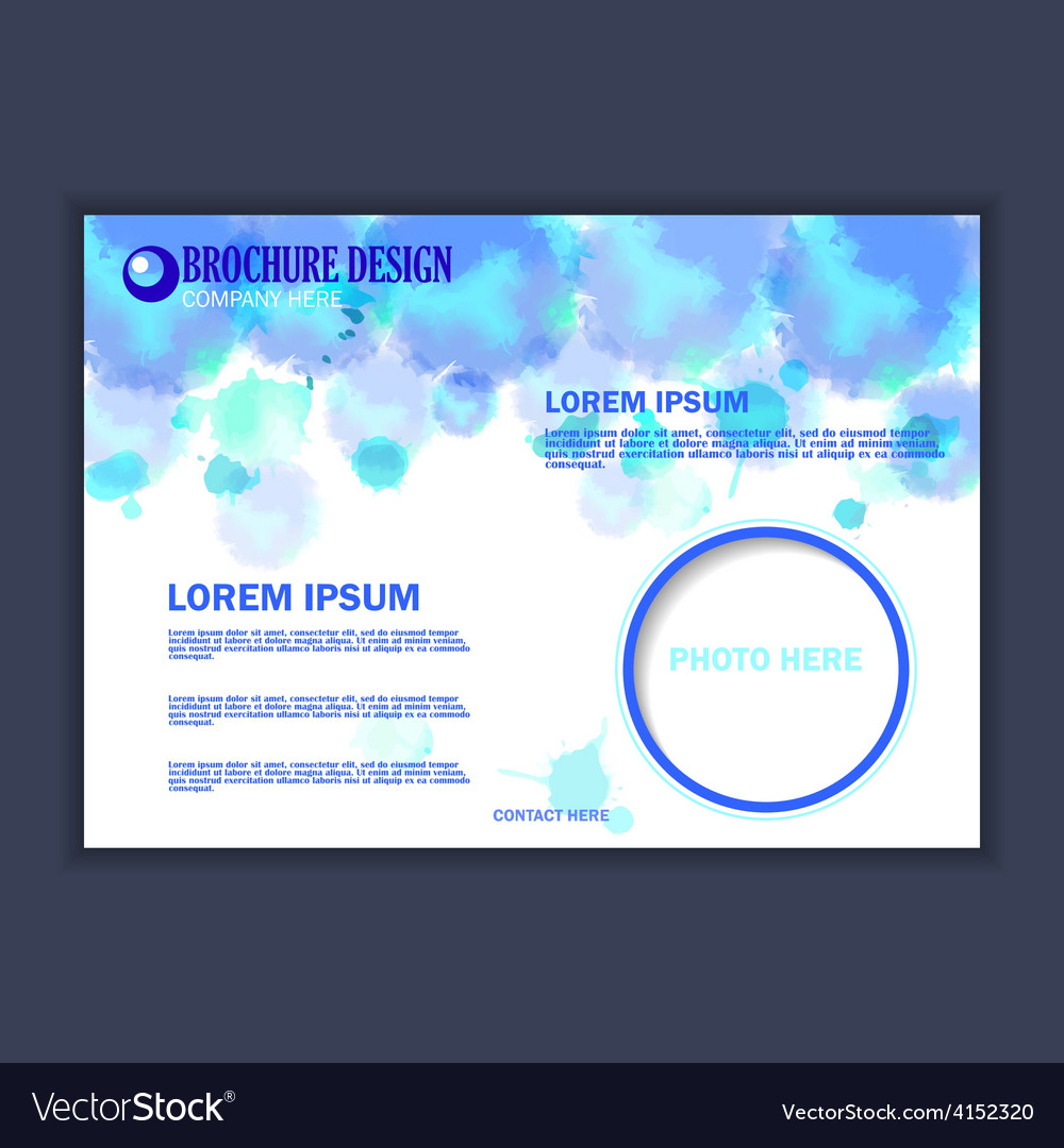 Horizontal business brochure for design vector | Price: 1 Credit (USD $1)