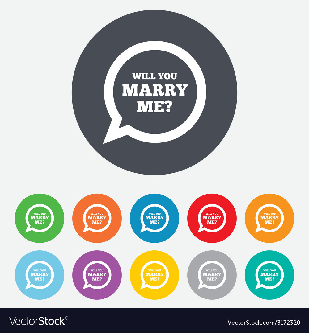 Marry me speech bubble sign icon engagement symbol vector | Price: 1 Credit (USD $1)