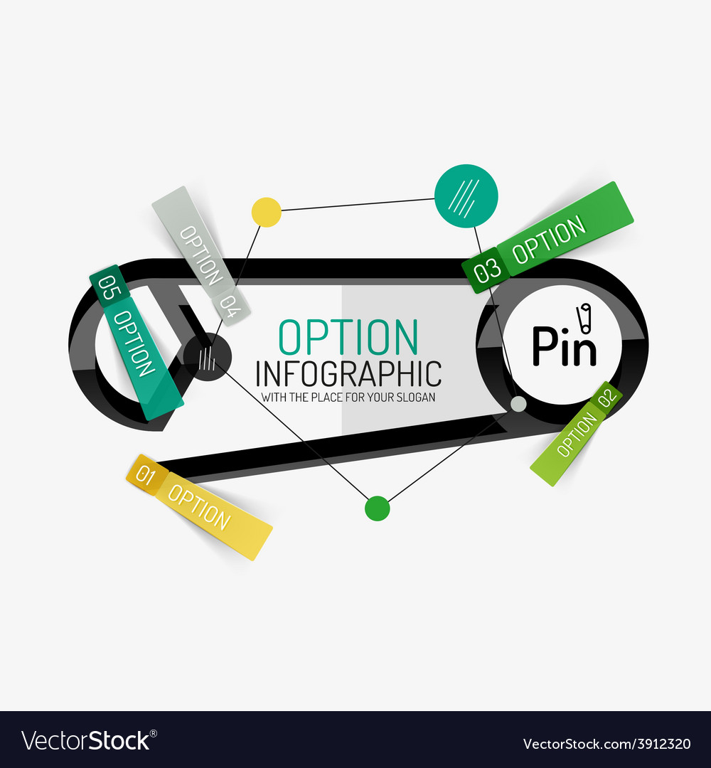 Minimal line design office web infographics vector | Price: 1 Credit (USD $1)