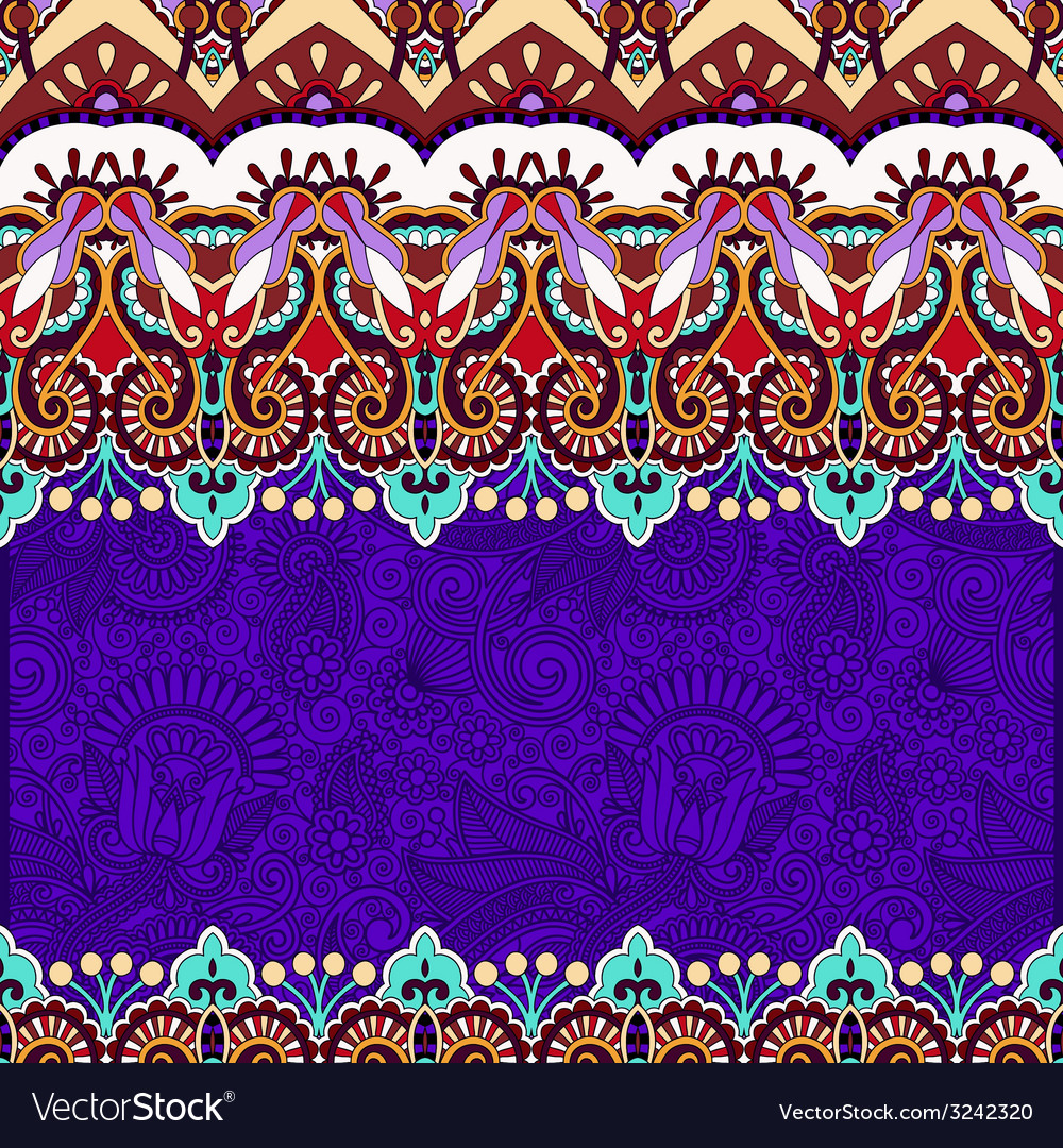 Ornamental floral folkloric violet background for vector | Price: 1 Credit (USD $1)
