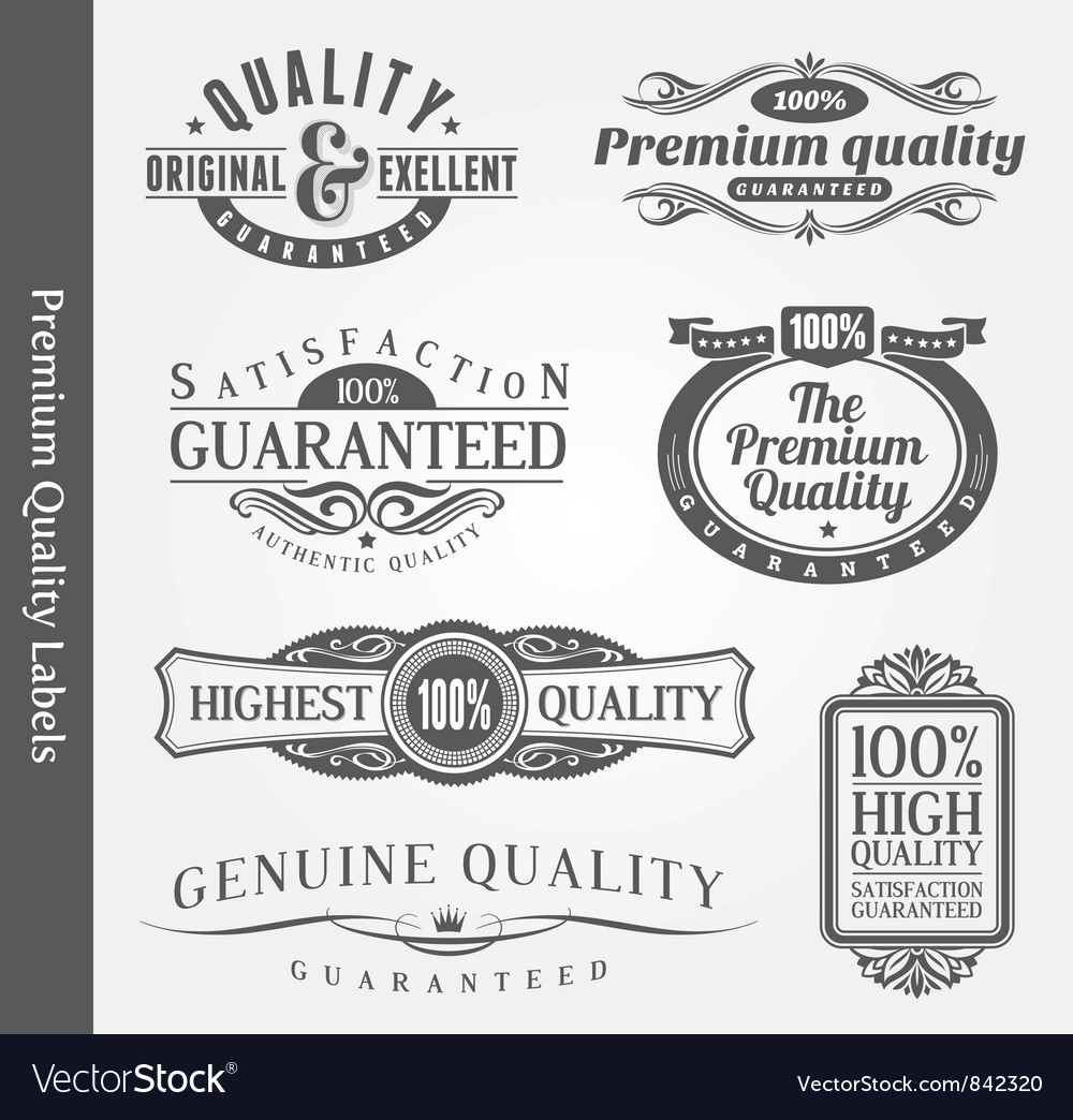 Ornate emblems of quality vector | Price: 3 Credit (USD $3)