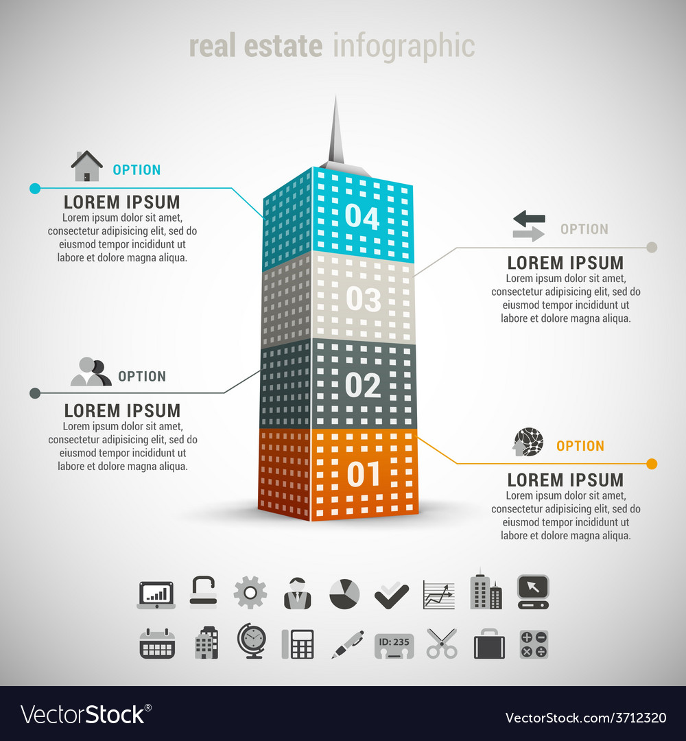 Real estate infographic vector   Price: 1 Credit (USD $1)