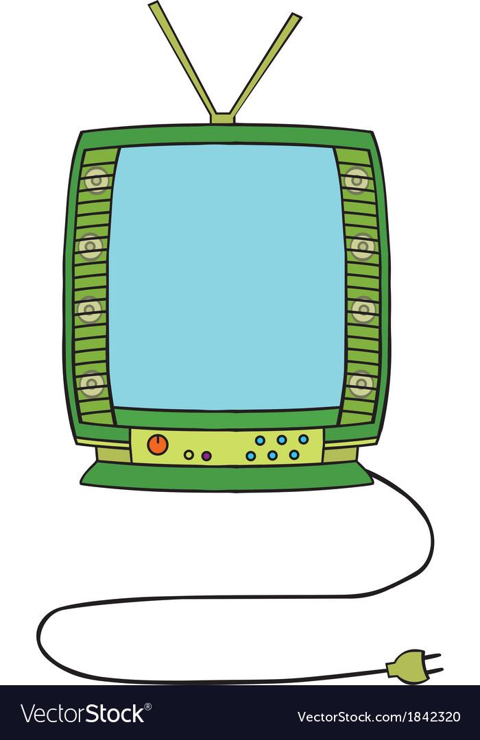 Television cartoon vector | Price: 1 Credit (USD $1)