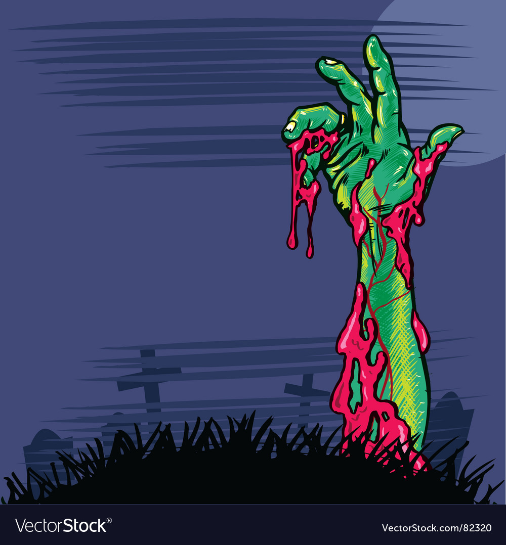 Zombie hand vector | Price: 3 Credit (USD $3)