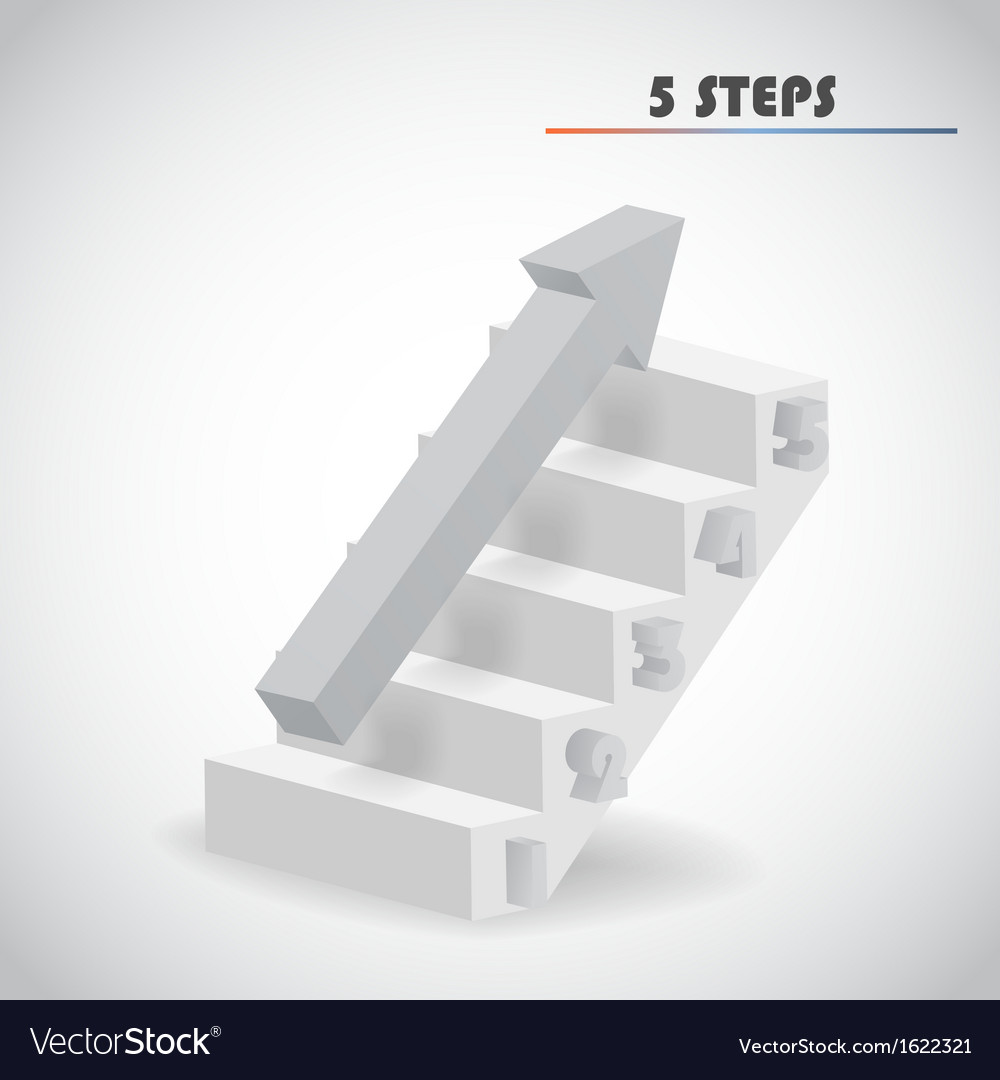 Arrow and staircase vector | Price: 1 Credit (USD $1)