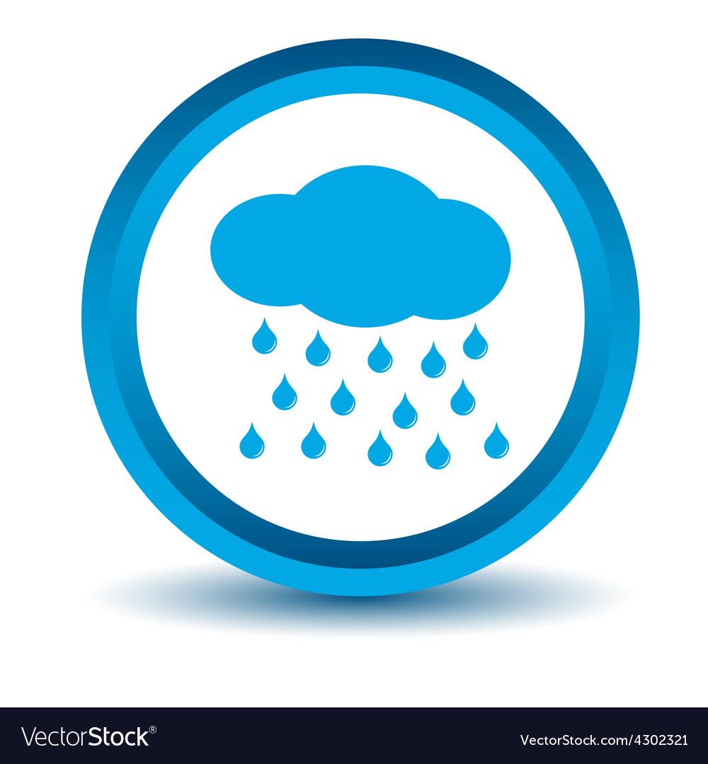 Blue rain icon vector | Price: 1 Credit (USD $1)