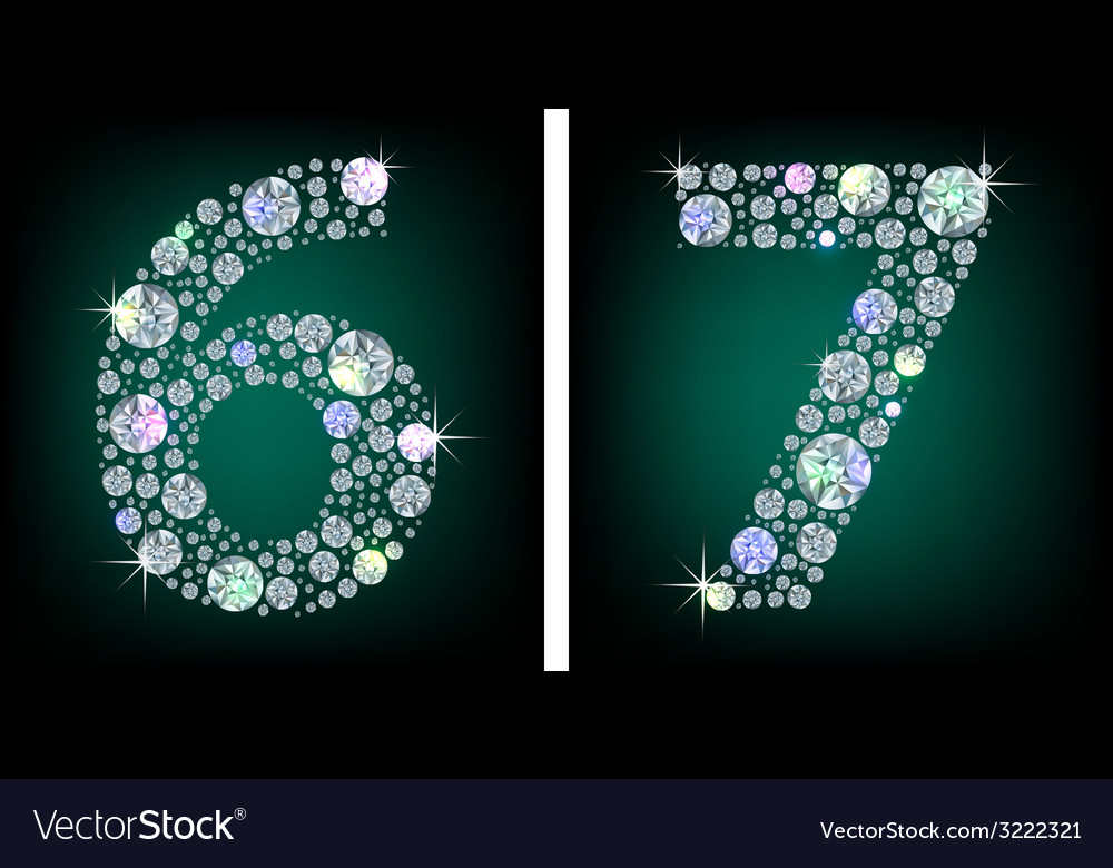 Crystal numbers vector | Price: 1 Credit (USD $1)