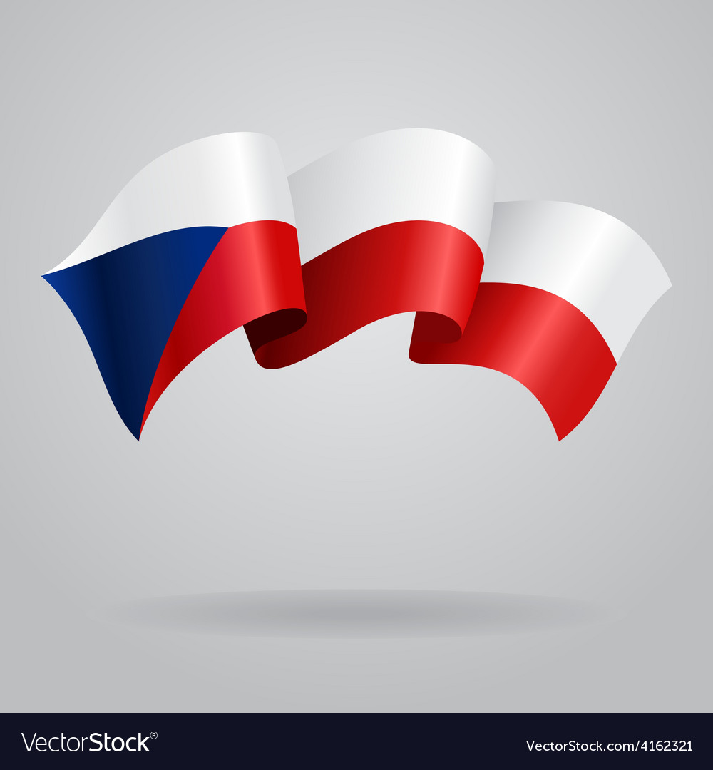 Czech waving flag vector | Price: 3 Credit (USD $3)