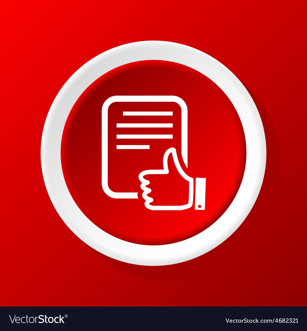 Good document icon on red vector | Price: 1 Credit (USD $1)