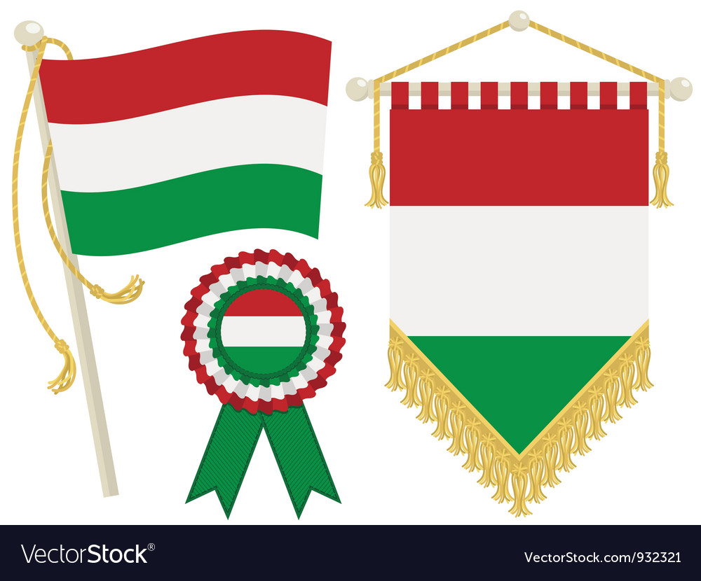 Hungary flags vector | Price: 1 Credit (USD $1)
