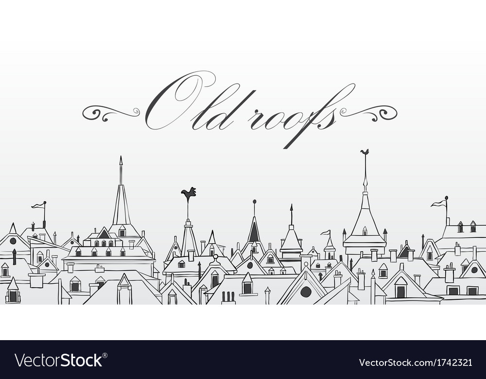 Old prague roofs  background vector | Price: 1 Credit (USD $1)