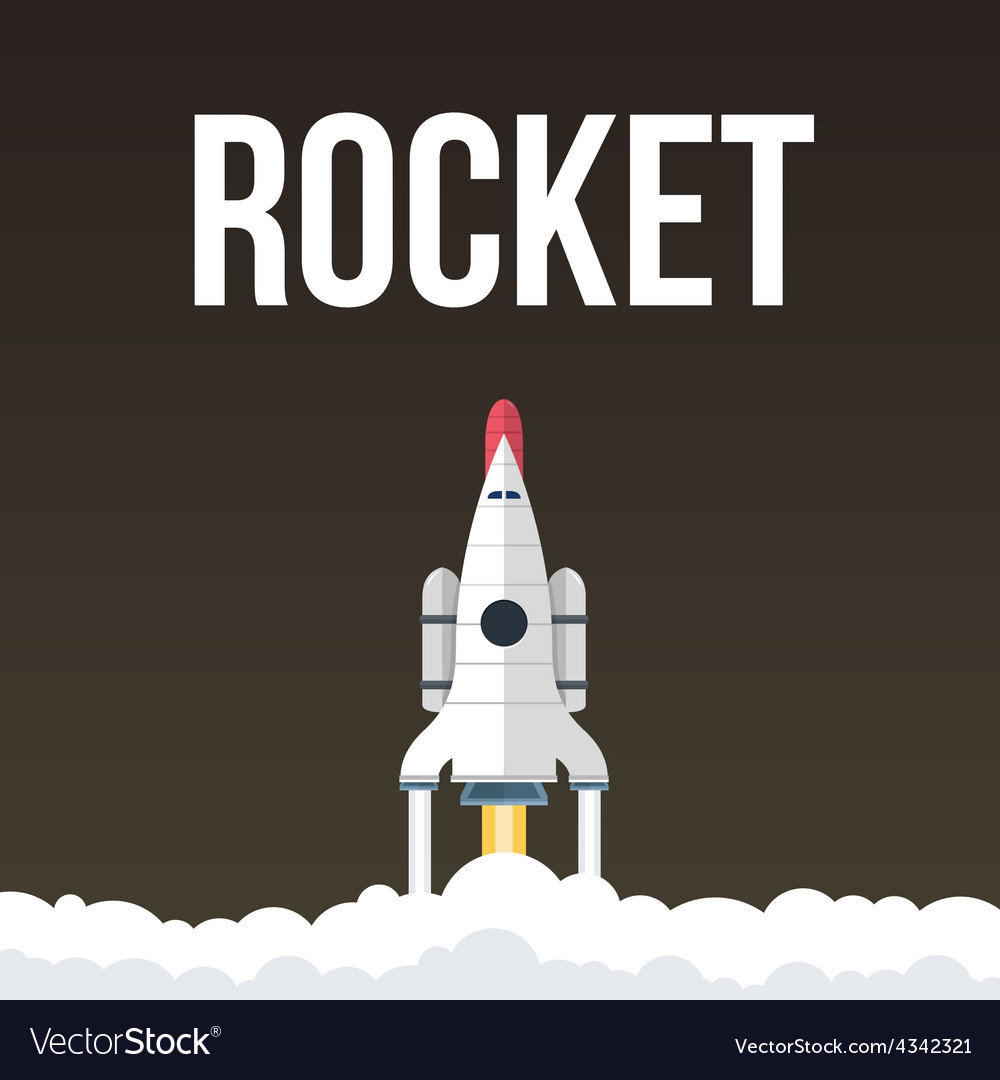 Rocket that fly in universe vector | Price: 1 Credit (USD $1)