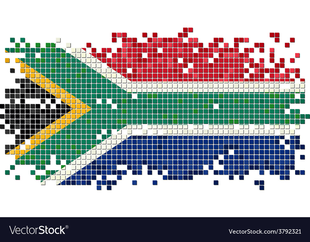 South africa grunge tile flag vector   Price: 1 Credit (USD $1)