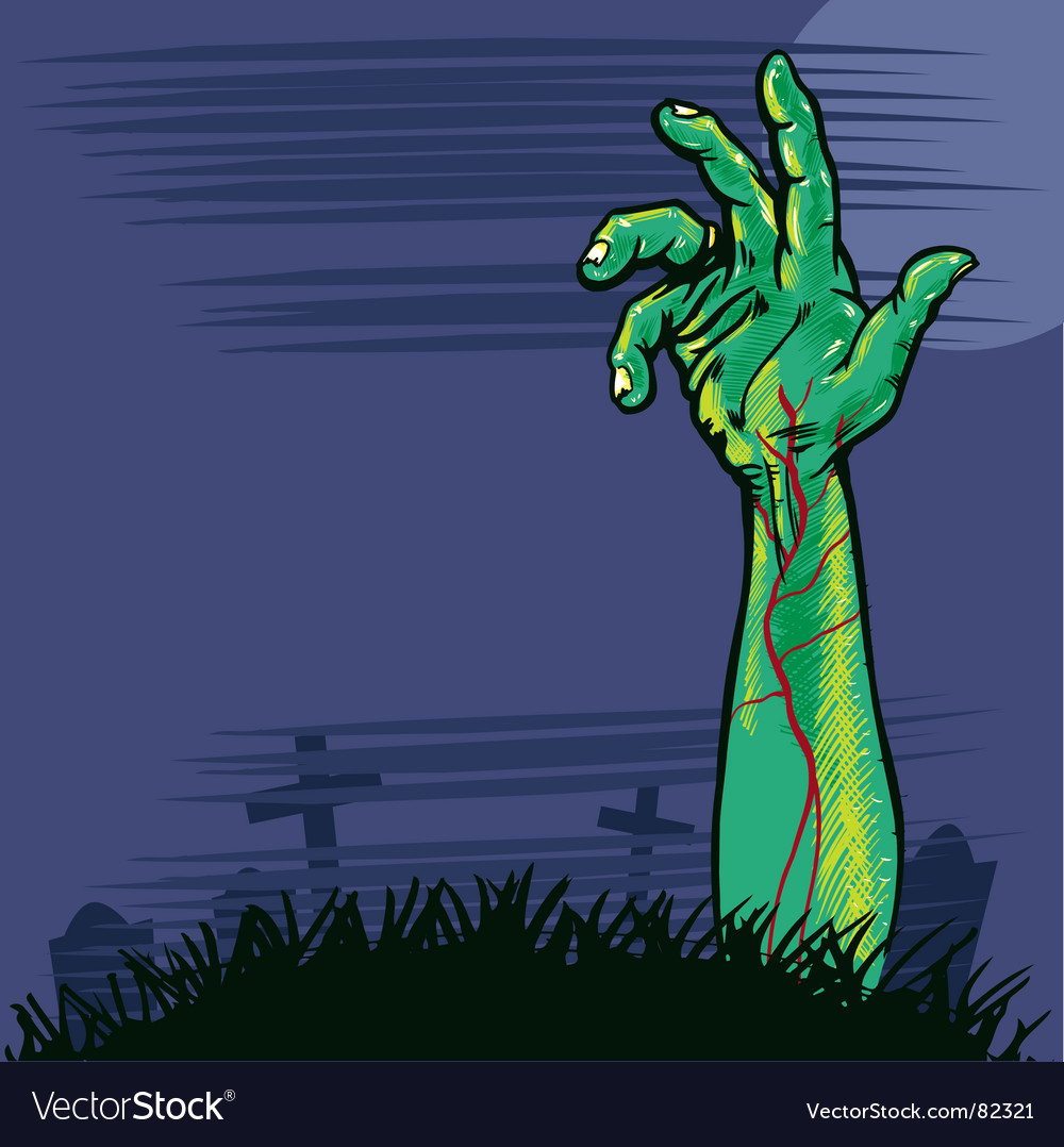Zombie hand vector | Price: 1 Credit (USD $1)