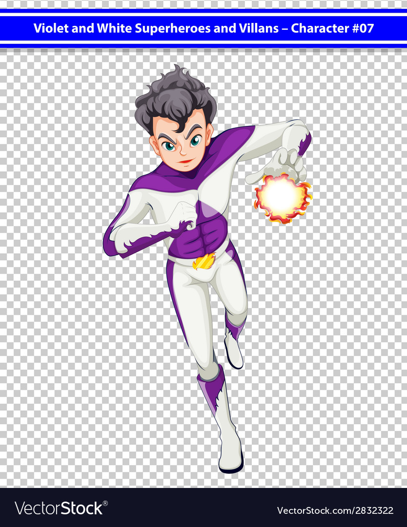 A violet and white superhero with a blazing power vector   Price: 1 Credit (USD $1)