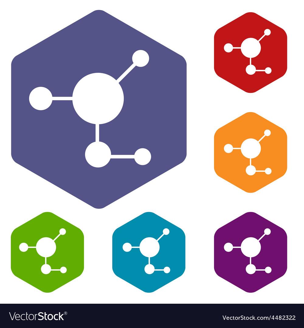 Atom rhombus icons vector | Price: 1 Credit (USD $1)