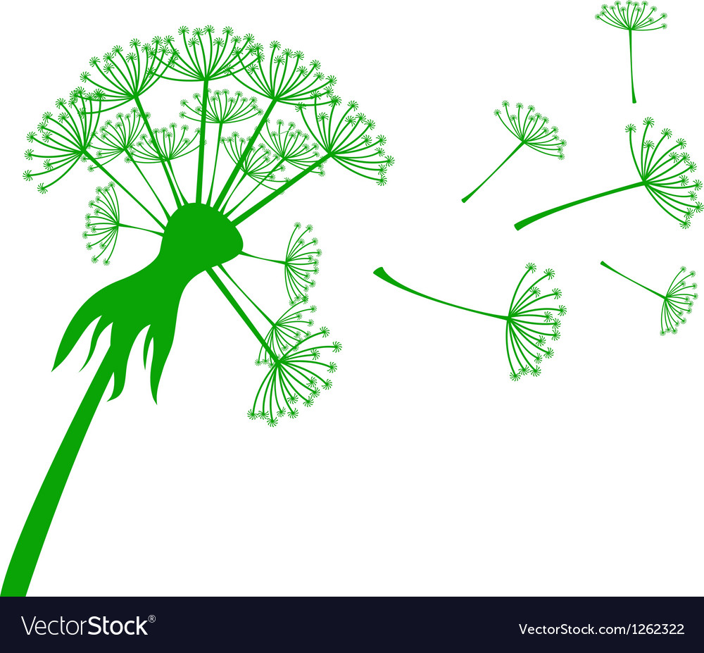 Banner with dandelion vector | Price: 1 Credit (USD $1)