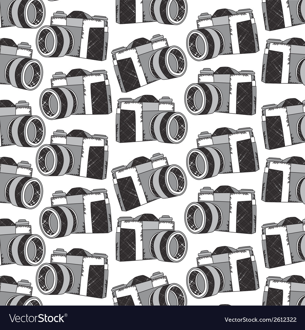 Camera pattern vector | Price: 1 Credit (USD $1)