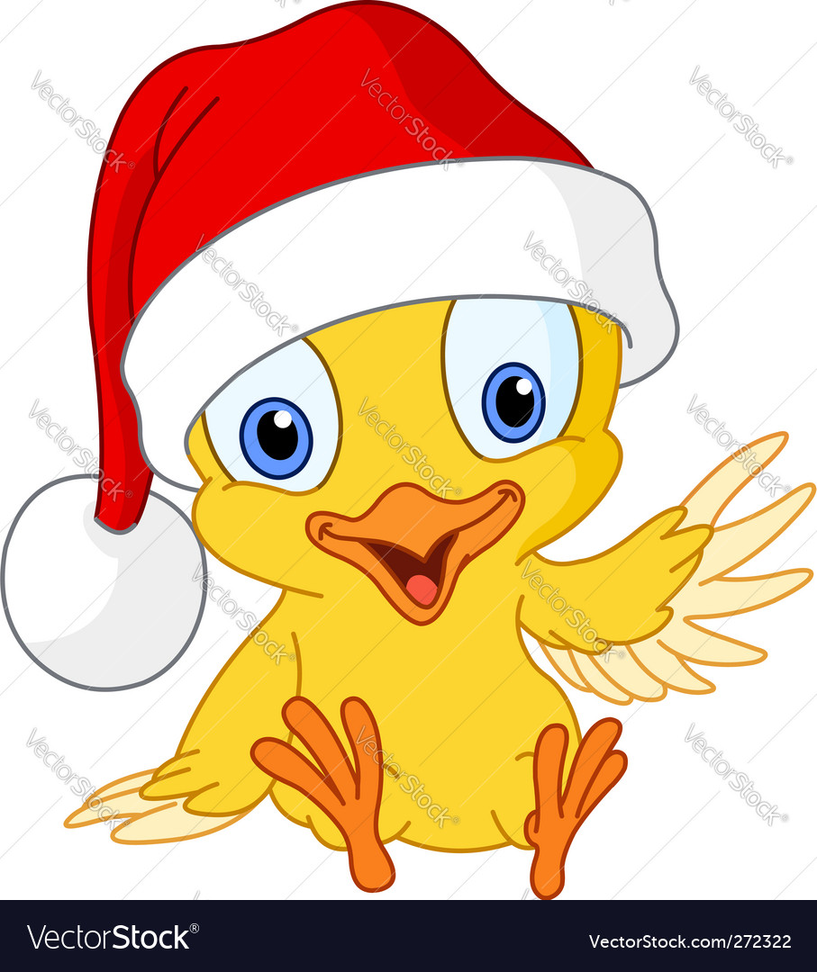 Christmas chick vector | Price: 1 Credit (USD $1)