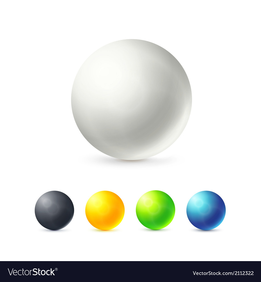 Collection of colorful glossy spheres vector | Price: 1 Credit (USD $1)