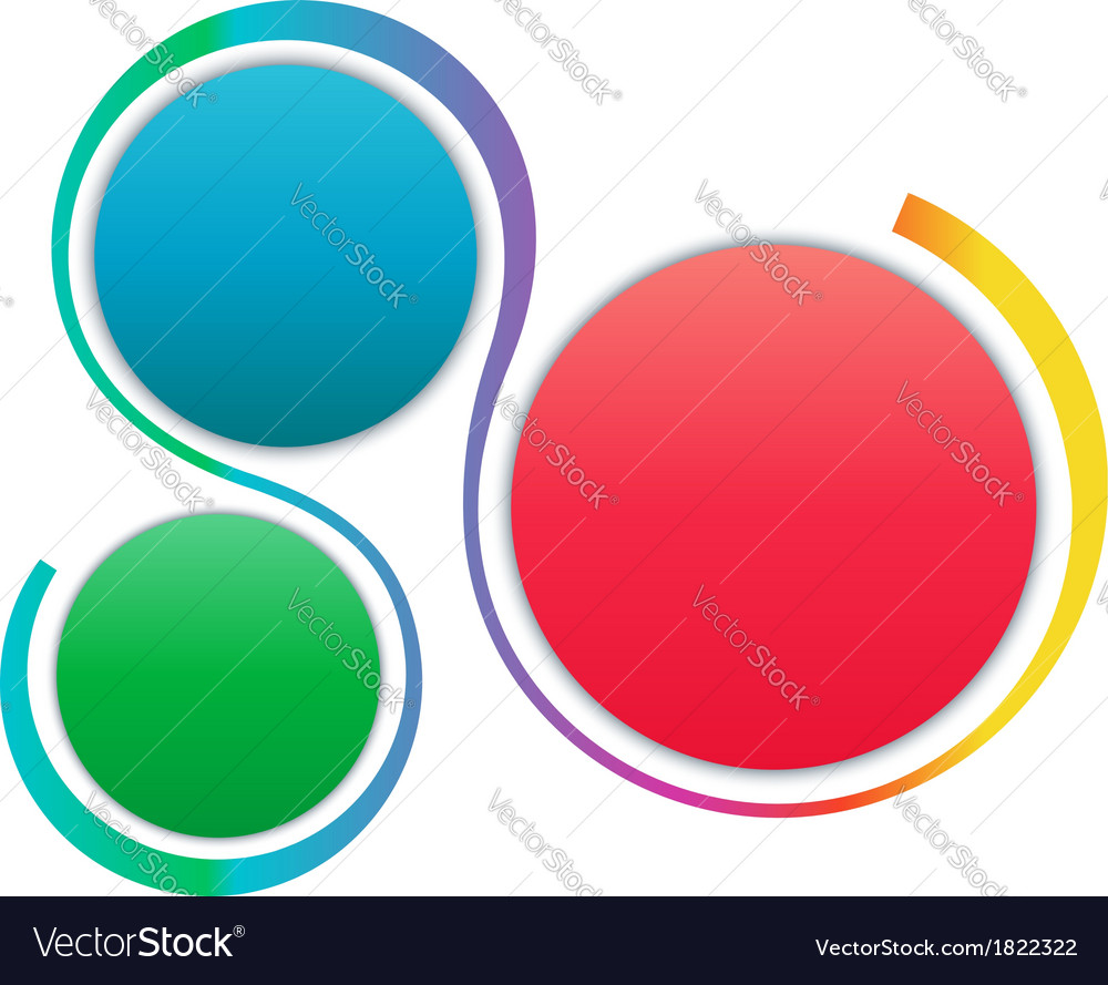 Colorful steps infographics elements vector | Price: 1 Credit (USD $1)