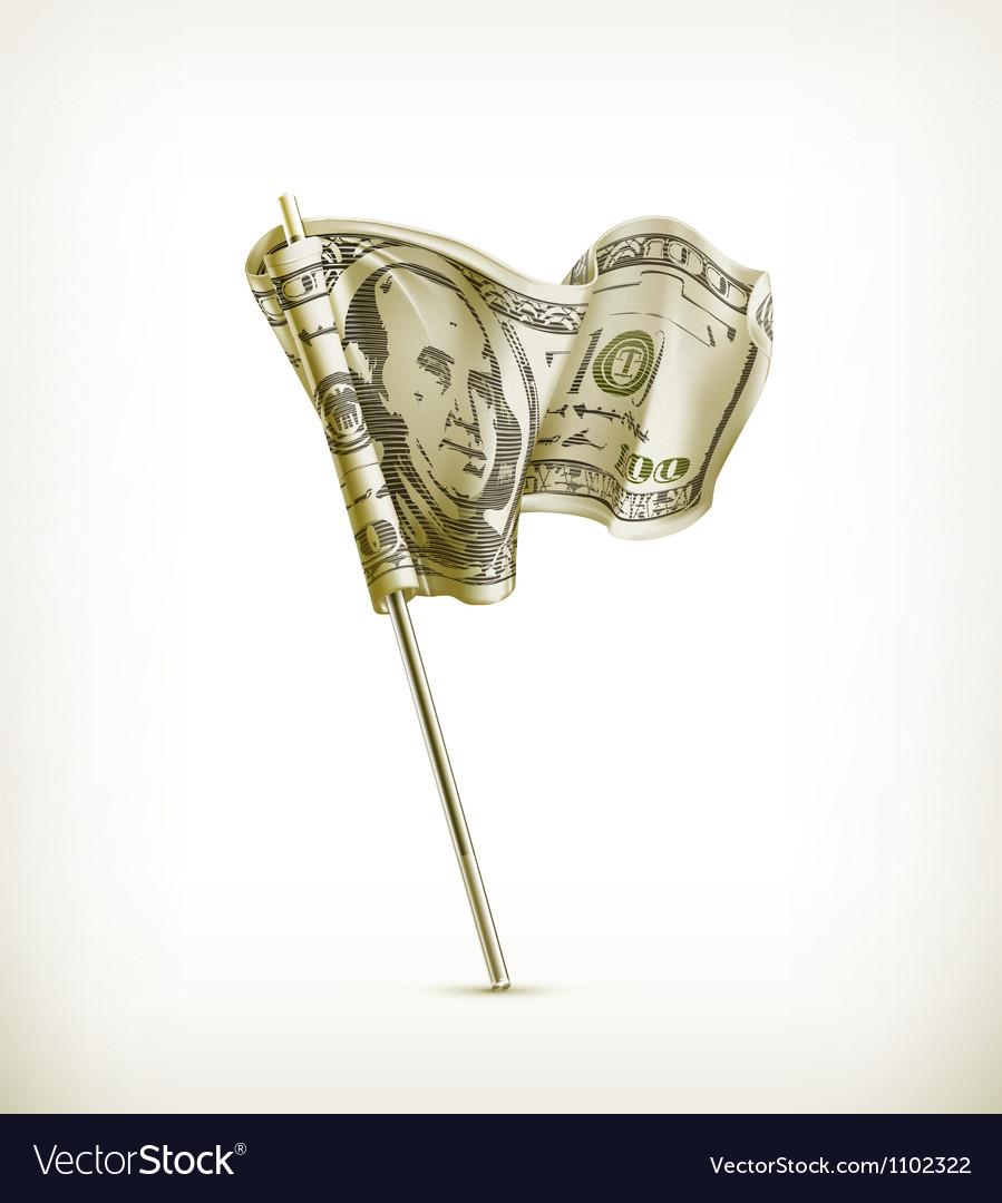Dollar flag vector | Price: 1 Credit (USD $1)