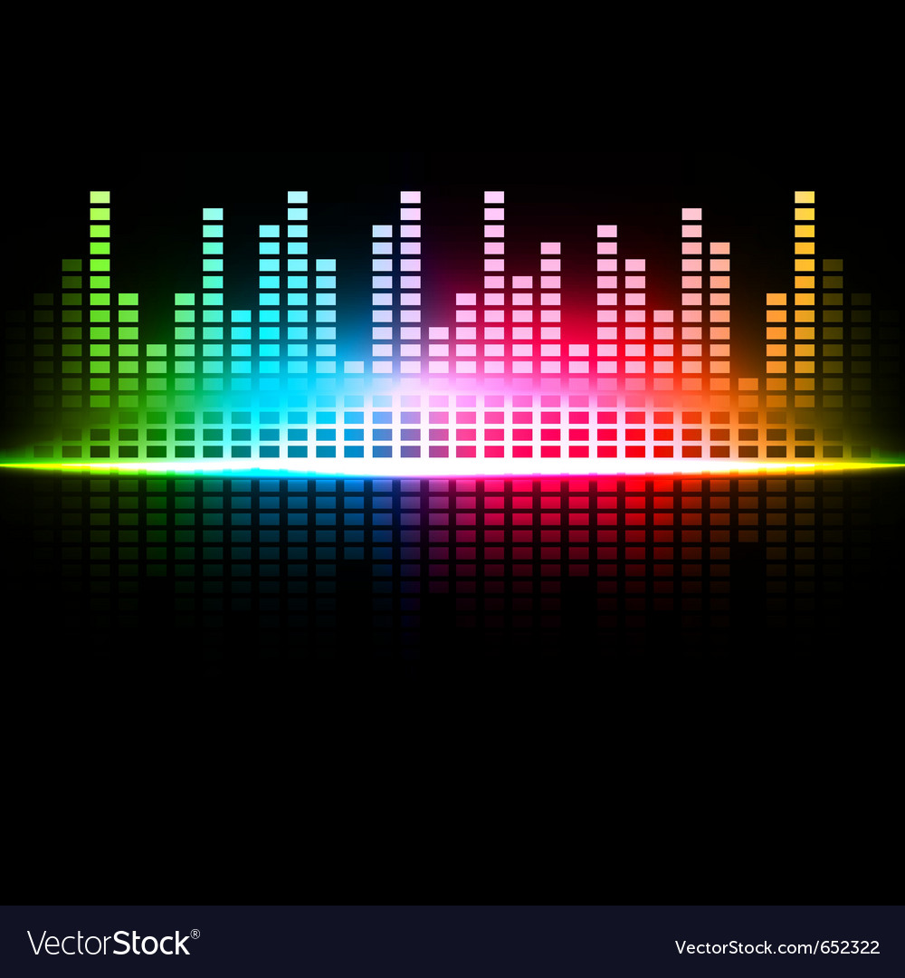 Multicolored abstract sound background vector   Price: 1 Credit (USD $1)