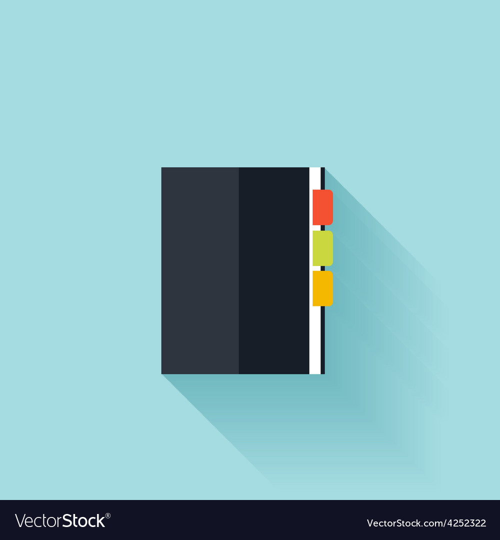 Notepad flat cion with shadow vector | Price: 1 Credit (USD $1)