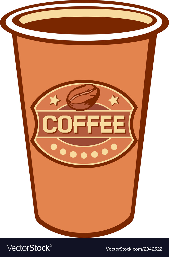 Paper cup of coffee vector | Price: 1 Credit (USD $1)