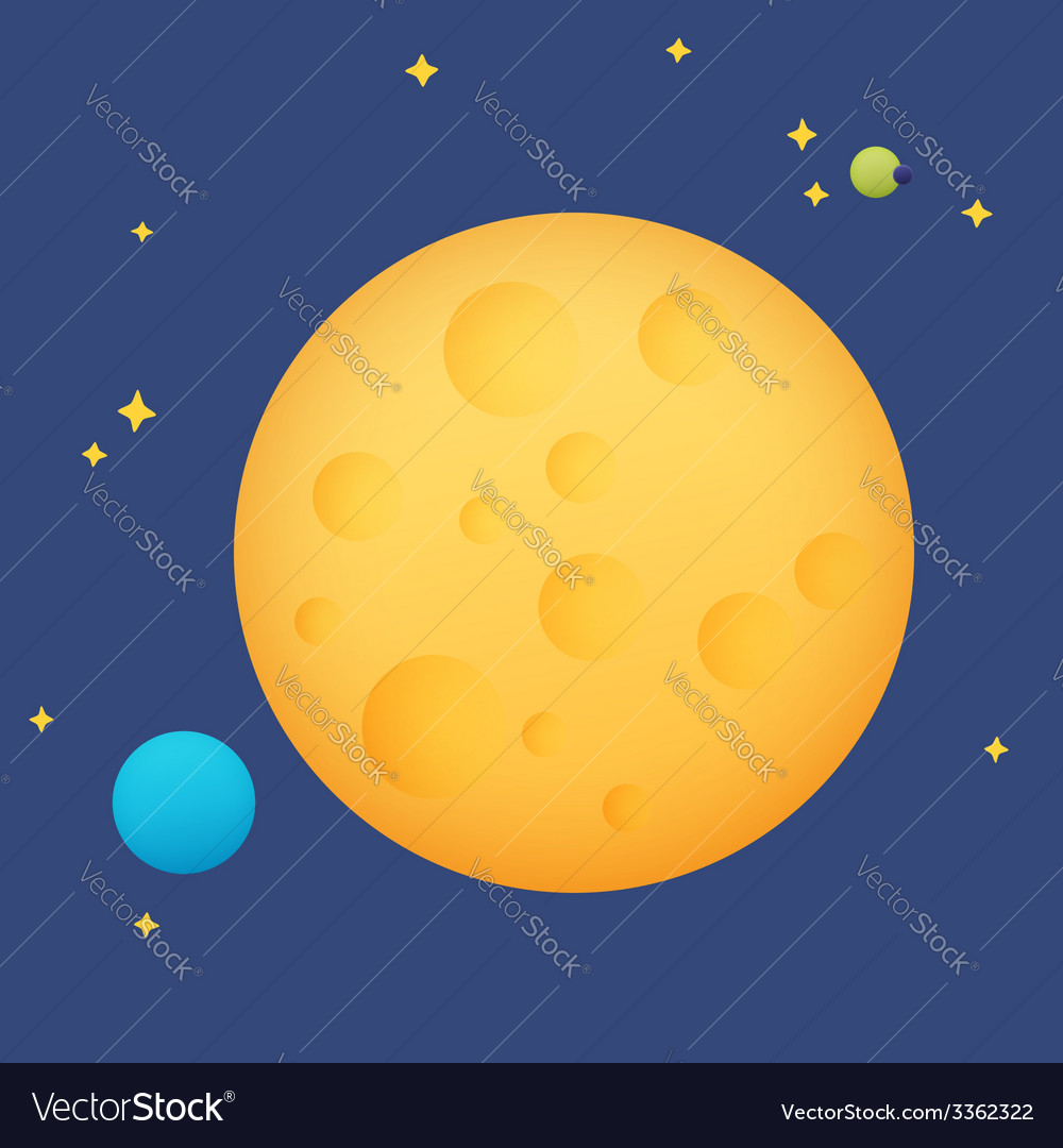 Planet in space vector | Price: 1 Credit (USD $1)