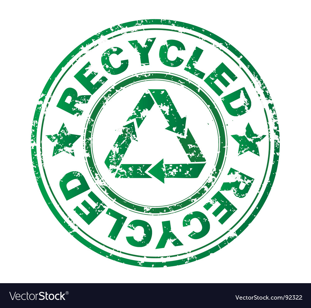 Recycled grunge stamp vector   Price: 1 Credit (USD $1)