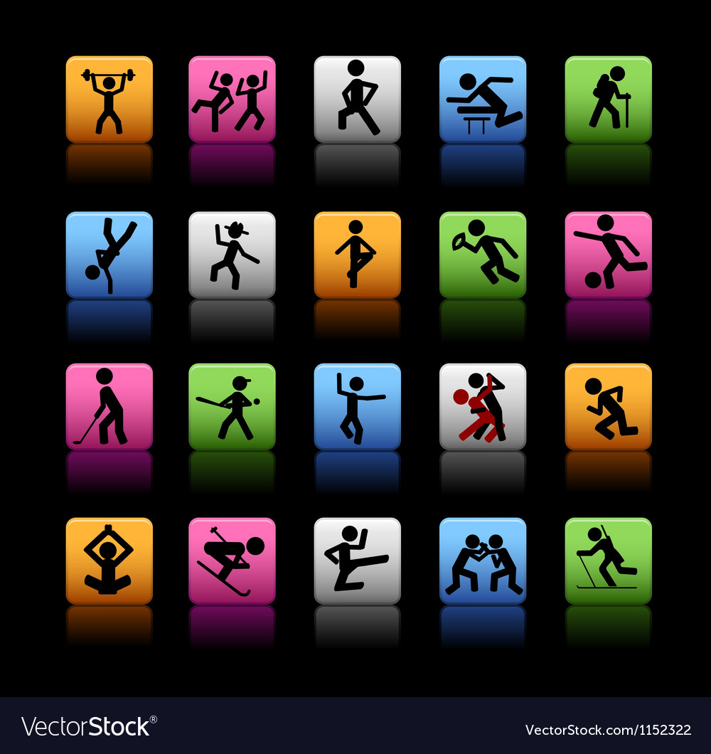 Set of 20 sport icons vector | Price: 1 Credit (USD $1)