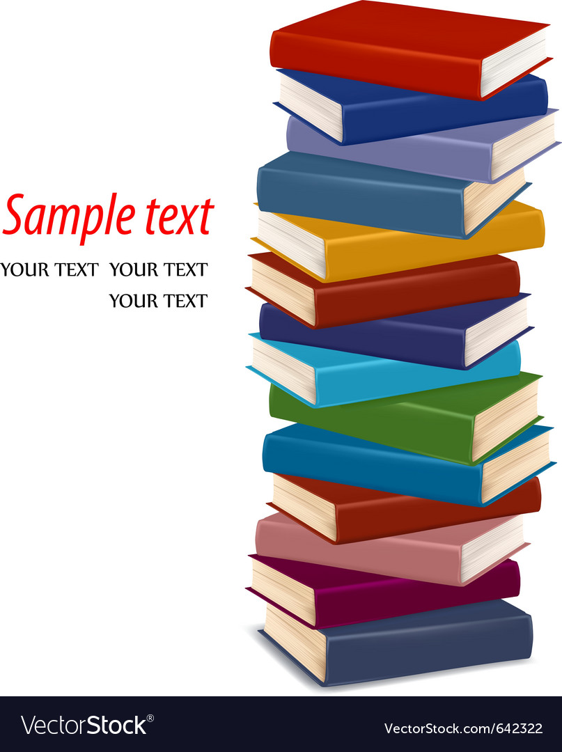 Stack of colorful books vector | Price: 1 Credit (USD $1)