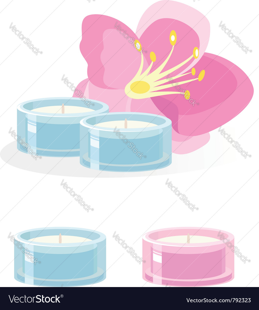 Aroma candle on white vector | Price: 1 Credit (USD $1)