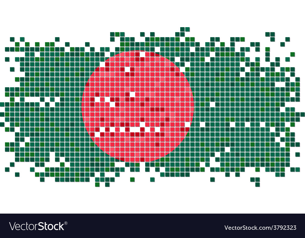 Bangladesh grunge tile flag vector | Price: 1 Credit (USD $1)