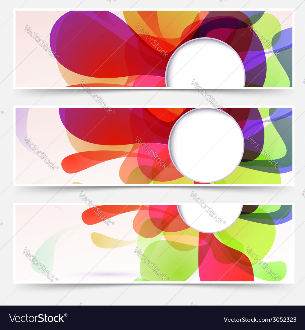 Bright web headers set - abstract liquid vector | Price: 1 Credit (USD $1)