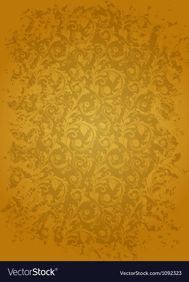 Brown seamless wallpaper pattern vector | Price: 1 Credit (USD $1)
