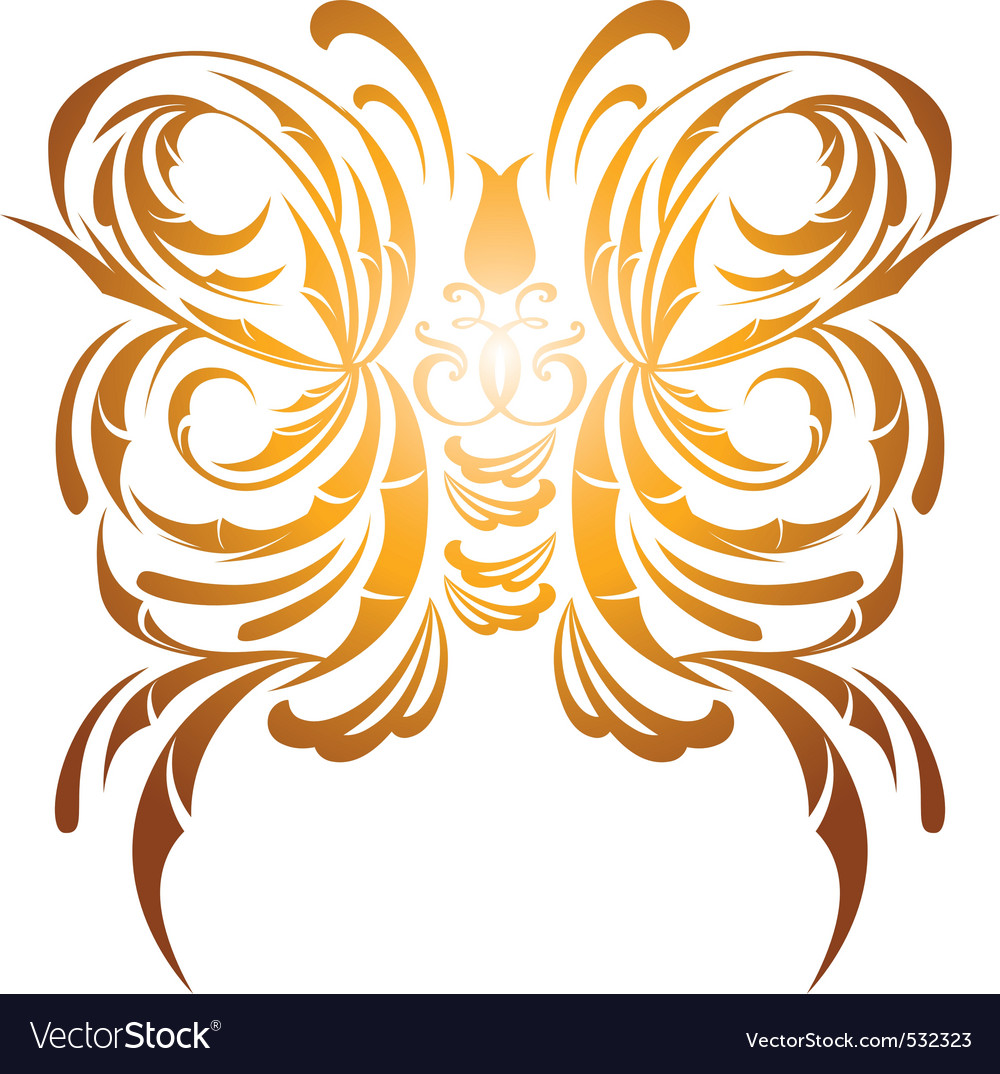 Butterfly decorative vector | Price: 1 Credit (USD $1)